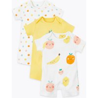 3 Pack Organic Cotton Fruit Rompers (6½lbs-3 Yrs)