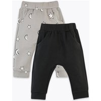 2 Pack Star & Moon Print Joggers