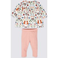 2 Piece Cotton Top & Bottom Outfit With Stretch
