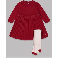 Autograph 2 Piece Knitted Dress with Tights