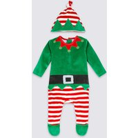 2 Piece Velour Elf All In One With Hat