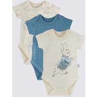 3 Pack Pure Cotton Patterned Bodysuits