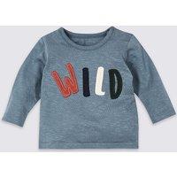 Pure Cotton Wild Graphic T-Shirt