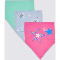 3 Pack Pure Cotton Large Dribble Bibs