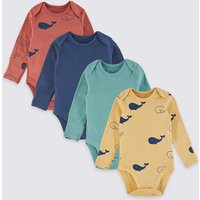 4 Pack Cotton Animal Print Bodysuits