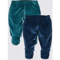 2 Pack Cotton Rich Crawler Trousers