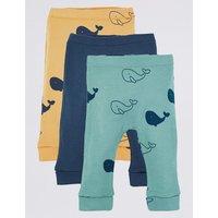 3 Pack Whale Print Leggings