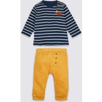 2 Piece Pure Cotton Top & Joggers Outfit