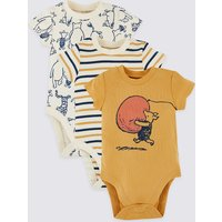 3 Pack Pure Cotton Winnie the Pooh & Friends Bodysuits