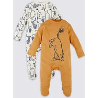 2 Pack Pure Cotton Winnie the Pooh & Friends Sleepsuits