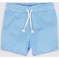 Pure Cotton Striped Jersey Shorts
