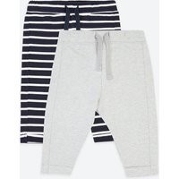 2 Pack Cotton Striped Joggers