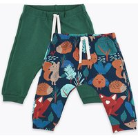 2 Pack Organic Cotton Woodland Print Joggers