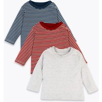 3 Pack Organic Cotton Striped Tops (0-3 Yrs)