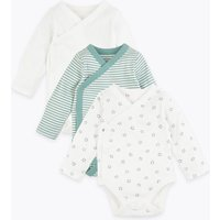 3 Pack Cotton Wrapover Bodysuits