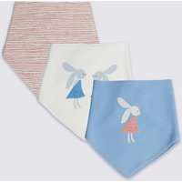 3 Pack Pure Cotton Bunny Dribble Bibs