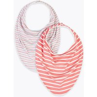 2 Pack Easy Dressing Striped Bibs