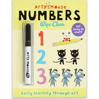 Arty Mouse Numbers Wipe Clean Book