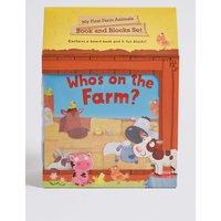 My First Farm Animals Book & Blocks Set