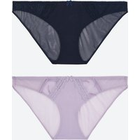M&s Collection 2 Pack Harvest Embroidered Bikini Knickers