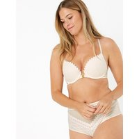 Boutique Mosaic Lace Underwired Push-Up Bra A-DD