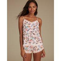 M&S Collection Lace Floral Print Camisole Set