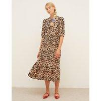 Nobodys Child Leopard Print Midi Smock Dress