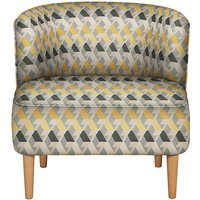 LOFT Kerava Armchair Miro Chenille Yellow Mix - Self Assembly