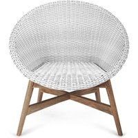 Capri Teak Chair - White