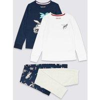2 Pack Zebra Pyjamas (3-16 Years)