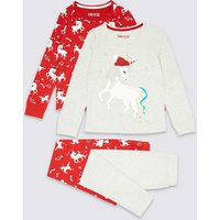 2 Pack Unicorn Pyjamas (3-16 Years)