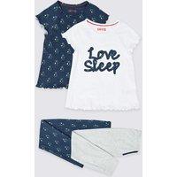 2 Pack Love Sleep Pyjamas (3-16 Years)