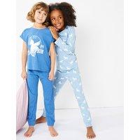 2 Pack Cotton Unicorn Print Pyjama Set (3-16 Years)