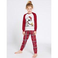 Snoopy Checked Pyjamas (7-16 Years)