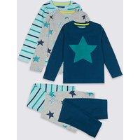 3 Pack Star Pyjamas (18 Months - 7 Years)