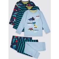 3 Pack Cotton Pyjamas With Stretch (1-7 Years)
