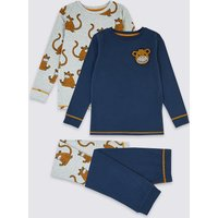 2 Pack Cotton Monkey Print Pyjama Set (1-7 Years)