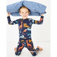 Animal Print Stretch Pyjama Set (1-7 Years)