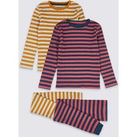 2 Pack Cotton Striped Pyjama Sets (1-7 Years)