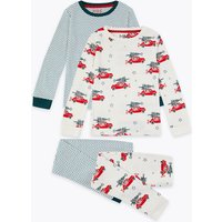 2 Pack Cotton Car Print Pyjama Set (1-7 Years)