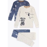 2 Pack Cotton Dog Print Pyjama Sets (1-7 Years)