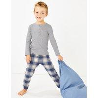 Jersey Checked Pyjama Set (1-7 Years)