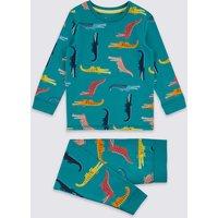 Cotton Crocodile Pyjamas with Stretch (1-7 Years)