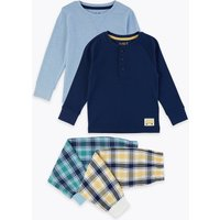 2 Pack Cotton Rich Checked Pyjama Sets (1-7 Years)