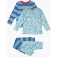 2 Pack Animal Print & Striped Pyjama Set (1-7 Years)