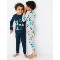 2 Pack Dinosaur Print Pyjama Set (1-7 Years)