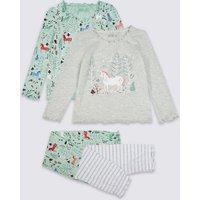 2 Pack Unicorn Pyjamas (1 - 7 Years)