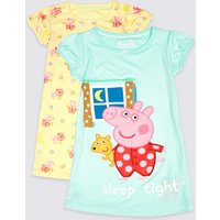 2 Pack Peppa Pig Nightdresses (18 Months - 7 Years)