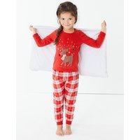 Cotton Reindeer Pyjama Set (1-7 Years)