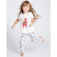 Pure Cotton Llama Pyjamas (1-7 Years)